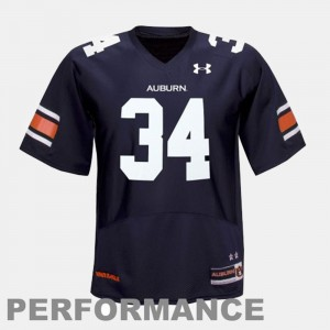 Men's #34 Football Auburn University Bo Jackson college Jersey - Blue