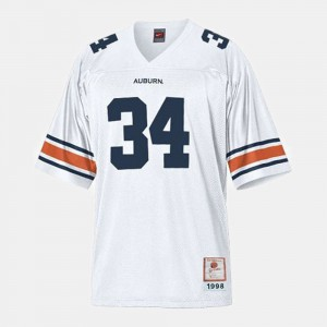 Men #34 Auburn University Football Bo Jackson college Jersey - White