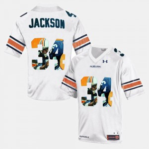 Men Tigers #34 Throwback Bo Jackson college Jersey - White