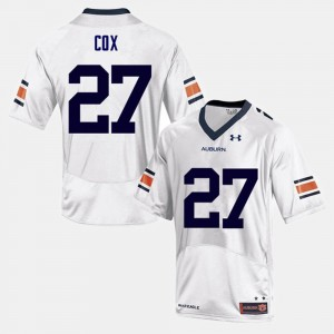 Men #27 Football Auburn Chandler Cox college Jersey - White