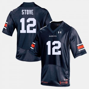 Mens Football #12 Auburn Tigers Eli Stove college Jersey - Navy