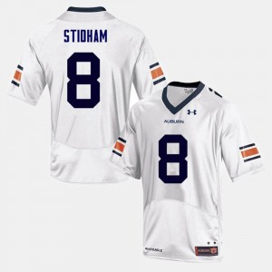 Men Football #8 AU Jarrett Stidham college Jersey - White