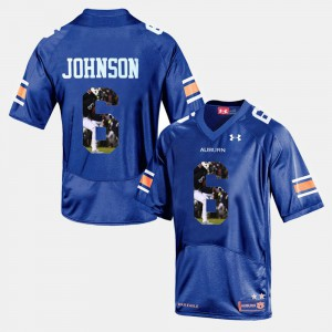 Men's #6 Tigers Player Pictorial Jeremy Johnson college Jersey - Navy Blue