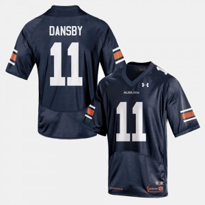 Men's AU #11 Football Karlos Dansby college Jersey - Navy