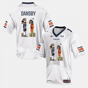 Men's #11 Karlos Dansby college Jersey - White Player Pictorial AU
