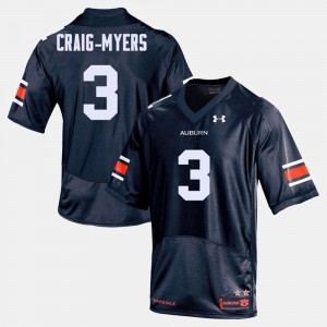 Men AU #3 Football Nate Craig-Myers college Jersey - Navy