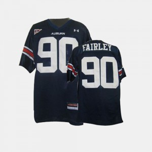 Youth AU Football #90 Nick Fairley college Jersey - Blue