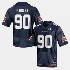 Men Tigers Football #90 Nick Fairley college Jersey - Navy