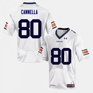 Men's Auburn Tigers Football #80 Sal Cannella college Jersey - White