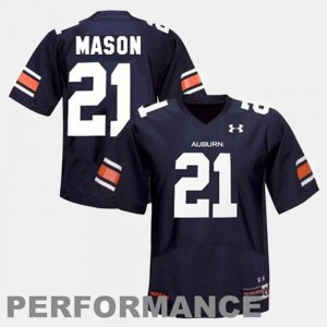 Men's AU #21 Football Tre Mason college Jersey - Blue