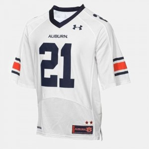 Youth(Kids) #21 Football Auburn University Tre Mason college Jersey - White