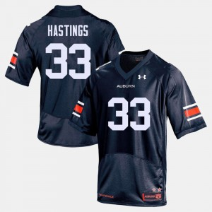 Men's Football AU #33 Will Hastings college Jersey - Navy