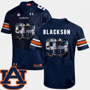 Mens Pictorial Fashion Auburn University #98 Football Angelo Blackson college Jersey - Navy