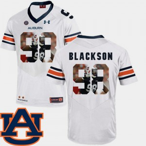 Mens #98 AU Pictorial Fashion Football Angelo Blackson college Jersey - White