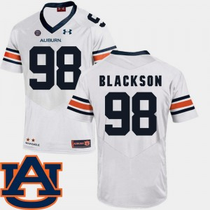 Men's SEC Patch Replica AU #98 Football Angelo Blackson college Jersey - White