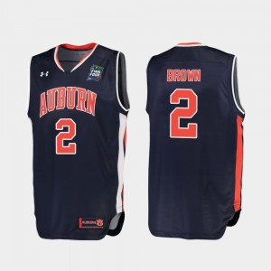 Mens 2019 Final-Four #2 Auburn Tigers Replica Bryce Brown college Jersey - Navy