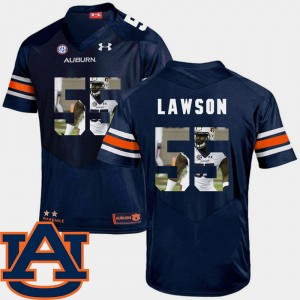 Men Auburn Tigers Pictorial Fashion Football #55 Carl Lawson college Jersey - Navy