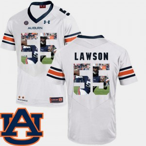 Men's AU Pictorial Fashion Football #55 Carl Lawson college Jersey - White