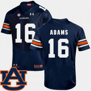 Mens #16 Devin Adams college Jersey - Navy Football SEC Patch Replica Tigers
