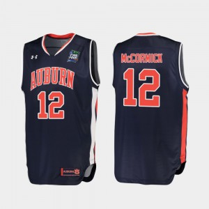 Men's 2019 Final-Four Replica Auburn #12 J'Von McCormick college Jersey - Navy