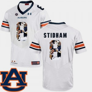 Men Auburn Tigers Pictorial Fashion #8 Football Jarrett Stidham college Jersey - White
