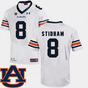 Men SEC Patch Replica Auburn #8 Football Jarrett Stidham college Jersey - White