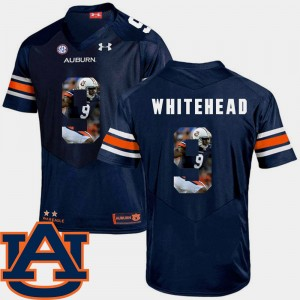 Men's #9 Football Pictorial Fashion AU Jermaine Whitehead college Jersey - Navy