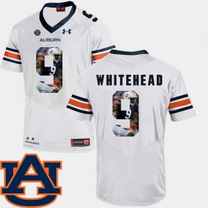 Mens AU Pictorial Fashion Football #9 Jermaine Whitehead college Jersey - White