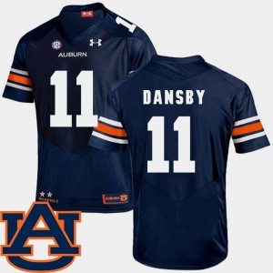 Men Football #11 Auburn University SEC Patch Replica Karlos Dansby college Jersey - Navy