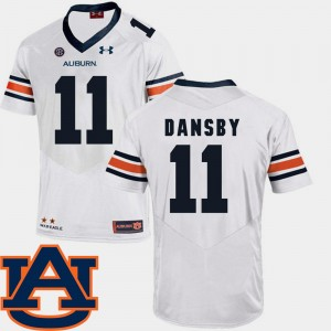 Men's Football AU #11 SEC Patch Replica Karlos Dansby college Jersey - White
