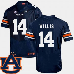 Men SEC Patch Replica #14 Tigers Football Malik Willis college Jersey - Navy
