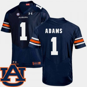 Mens SEC Patch Replica #1 AU Football Montravius Adams college Jersey - Navy