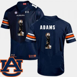 Mens Football AU Pictorial Fashion #1 Montravius Adams college Jersey - Navy