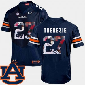 Men's Football #27 AU Pictorial Fashion Robenson Therezie college Jersey - Navy