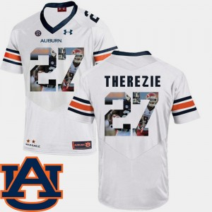 Mens #27 Football Pictorial Fashion Auburn Robenson Therezie college Jersey - White