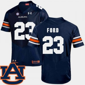 Men SEC Patch Replica #23 Football AU Rudy Ford college Jersey - Navy