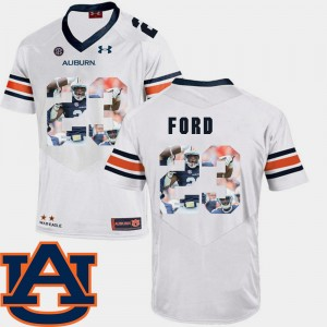 Mens #23 Pictorial Fashion Football AU Rudy Ford college Jersey - White