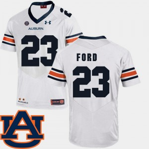 Mens Football SEC Patch Replica #23 Auburn University Rudy Ford college Jersey - White