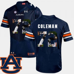 Men Pictorial Fashion #72 Tigers Football Shon Coleman college Jersey - Navy