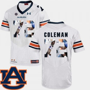 Men's Pictorial Fashion Football Tigers #72 Shon Coleman college Jersey - White