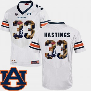 Men Pictorial Fashion #33 Football AU Will Hastings college Jersey - White