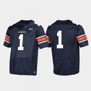 Youth Football 2019 Replica #1 AU college Jersey - Navy